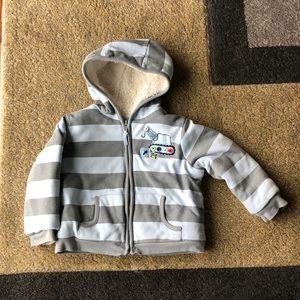 Toddler Boy Blue Gray Striped Sweater 18M